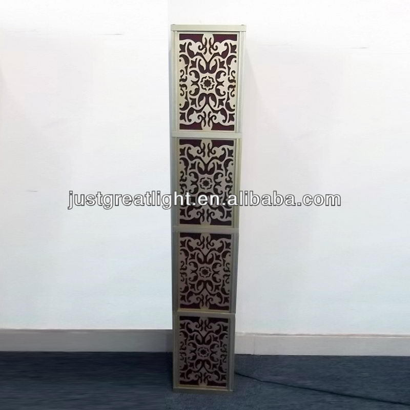 Laser cut foot switch for floor lamp with wood frame
