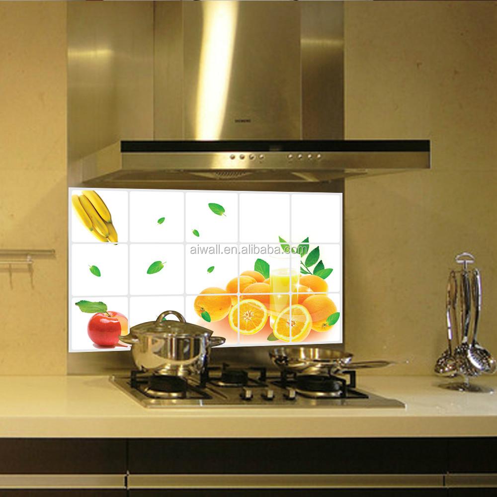 3023 obst/Gemüse Muster Fliesen-Öl Küche Aufkleber Entfernbare ...