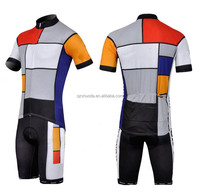 men cycling lycra bike short sleeves cycling Jersey suit