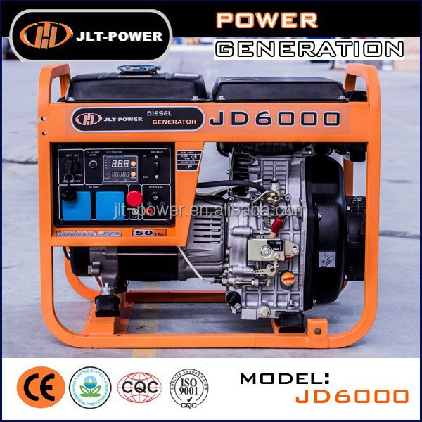 AC Single Phase 5KVA Diesel Powered Electricity Generator Price