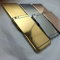 Luxury 24ct real gold plating housing for iphone 5s 6 / / full diamond housing for iphone 5 5s 6 back cover