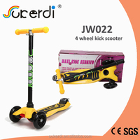 CE SGS certificated aluminum 4 wheel scooter kids frog kick scooter