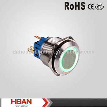 CE ROHS momentary latching 6 pin push button switch