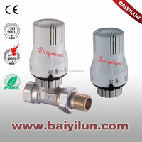 CE Thermostatic Radiator valve straight valve and thermostat head;thermostatice control with Y type