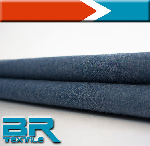 pure cotton yarn dyed poplin denim fabric for jeans