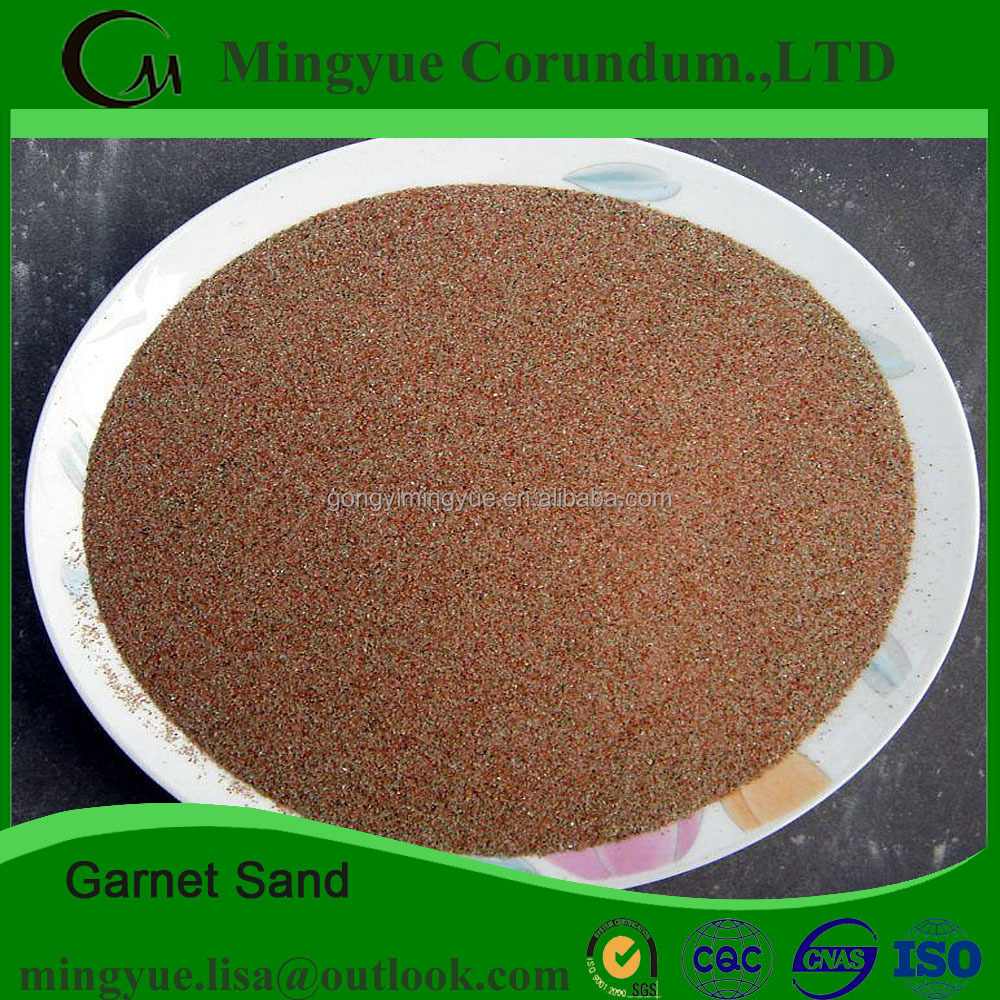 China factory provide Water Jet Cutting Natural Emery/ Garnet Stone for Abrasive