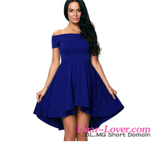 Blue All The Rage Skater Pakistani New Fashion Party Wear Dresses