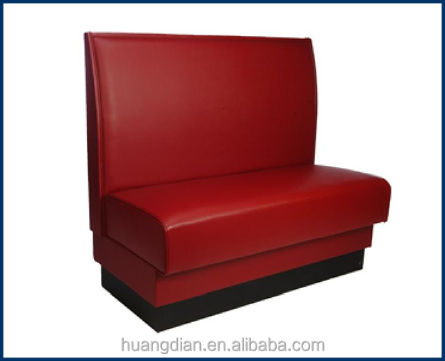 restaurant wooden red leather dining booth seating Bench