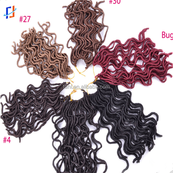 "6 pcs Faux Locs Curly 10""and 18"" Low Temperature Fiber hair"