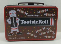 Custom Tootsie Roll Candy Small Metal Micro Lunch Box