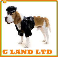 Funny dog clothes cool leather jacket clothing