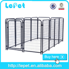 metal galvanized double dog kennel