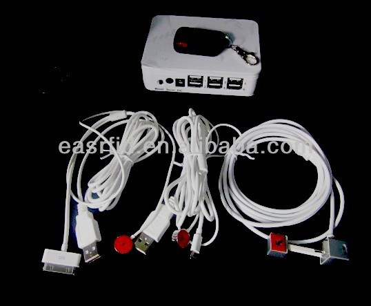 6 Ports Mobile Phone Anti Theft Display Alarm Device
