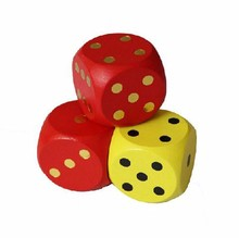 colored wooden dice white dots handmade wooden dice set