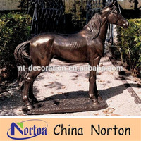 Metal Crafts Antique Bronze Horse Statue for sale NTBH-HR212R