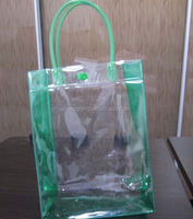 pvc bag/ laminated pp woven cement bag/ useful clear pvc zipper document bag