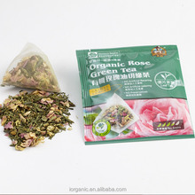 High Quality No Artificial Flavoring Organic Tea Leaf Rose Green Tea