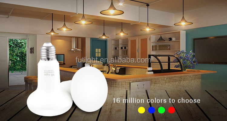Low energy cost high brightness 9W E27 wifi enabled wireless control rgbw smart LED par light bulb