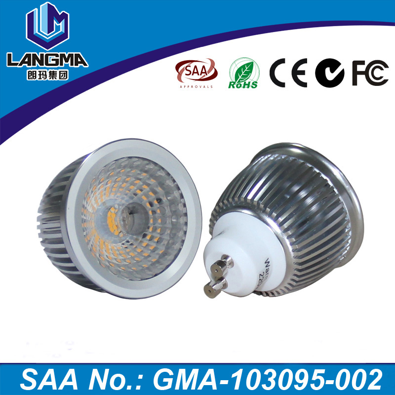 Aluminum cob 6w dimmer narrow angle 38 degree gu10 led small downlight bulbs for home