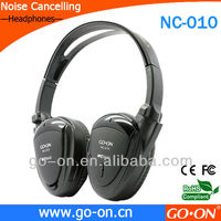 active noise reduction headphone with adaptor to be used in airplane