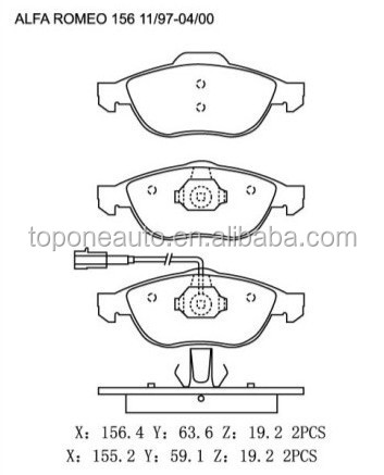 23289 23141 Brake Pad GDB1337 71713144 For LANCIA LYBRA Brake Pad