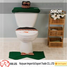 2016 fashion fabrics snowman felt toilet seat cover for christmas