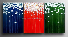 2015 Newest Beautiful morden flower pictures designs fabric oil painting