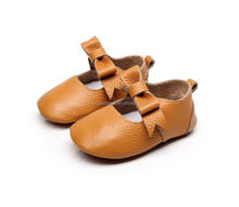 2017 new arrival brown color bow adult baby shoes newborn baby shoes baby baba shoes