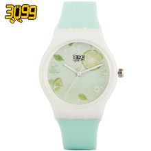 hot unisex jelly watch candy color silicone band sport quartz wrist watch