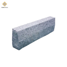 Hot sale chinese bush-hammered grey curb stone