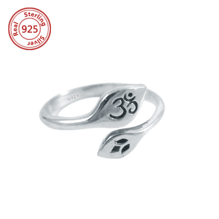 Sterling Silver Aum or OM Yoga Symbol Toe Ring or Pinky Ring gold om ring