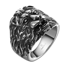 2017 High Quality Lion Cool Gentleman Stainless Steel D Ring Wholesale