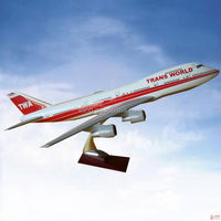 CUSTOMIZED LOGO RESIN MATERIAL b747-400 thai airplane model