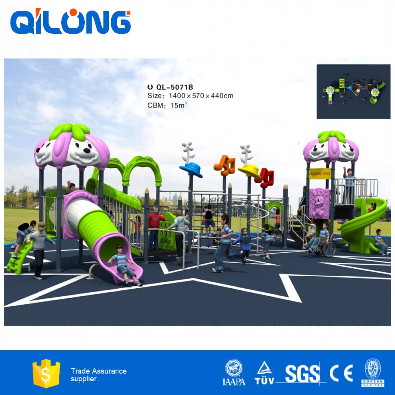 China supplier children outdoor palyground item kids outdoor pirate ship large outdoor playground with tiger slide