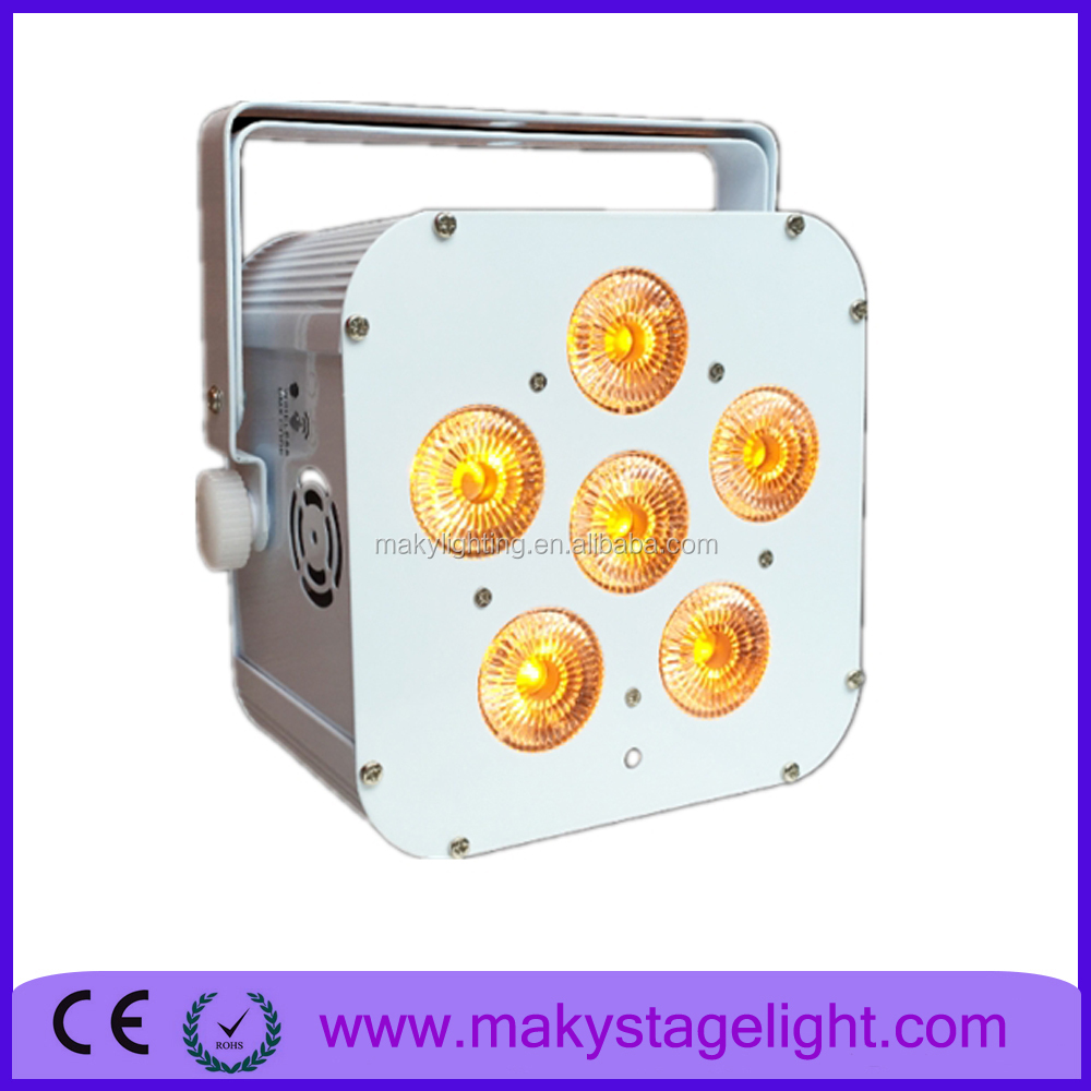Professional Wedding party and stage lights in guangzhou MAKY MQ-119 6*18w led battery wall washer uplighting