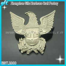 2014 Promotion metal eagle badge, bronze eagle lapel pins, cheap eagle emblems