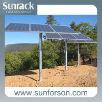 Adjustable ground solar mount for solar