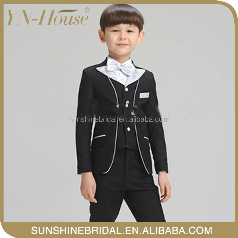 new design elegant boy clothings set kids With Bow knot For Christmas Gift