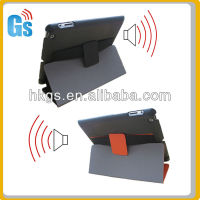Hot!smart voice changing case for Ipad 2/3/4 leather