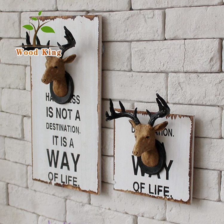 2017 Popular Best Selling Resin Deer Head Resin Wall Mounted 3D Artificial Animal Deer Head
