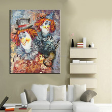 Wholesale Profesiional Painter Handmade Abstract Clown Oil Painting