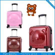 cute small bear trolley luggage for kids