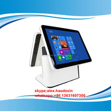 New Arrival 15 inch windows pos terminal dual screen all in one touch screen pos terminal GC066