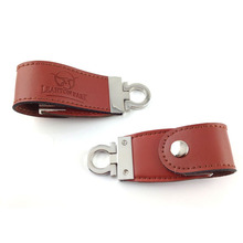 embossing logo on leather usb/promotion oem leather bracelet usb flash