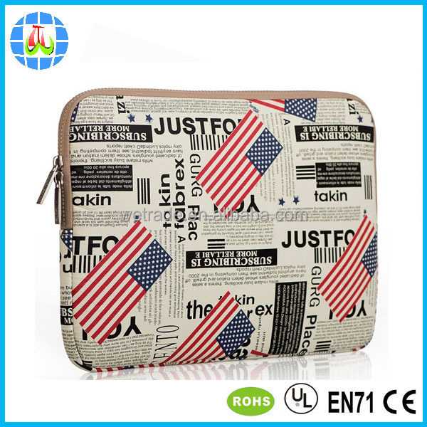 customized neoprene laptop sleeve case for 7-17 inche