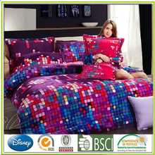 Printed Flannel bedding set Four set womens cotton knit pant sets