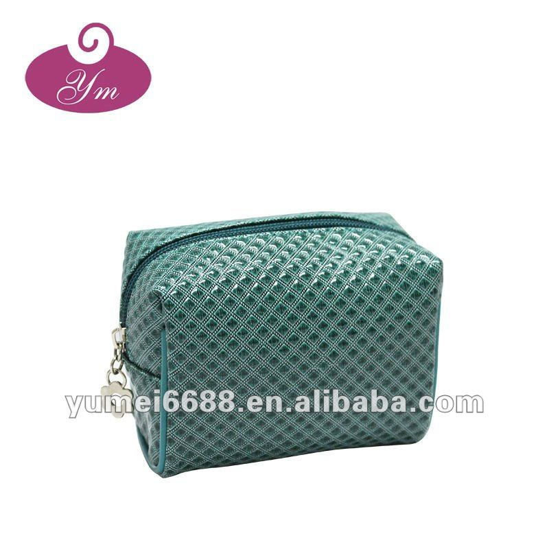 Hot sale!!!Promotional famous green pvc make up bag