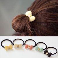 Lovely Cute Women Girl Hair Bands Rope Bow Rabbit Elastic Tie Ponytail Holder