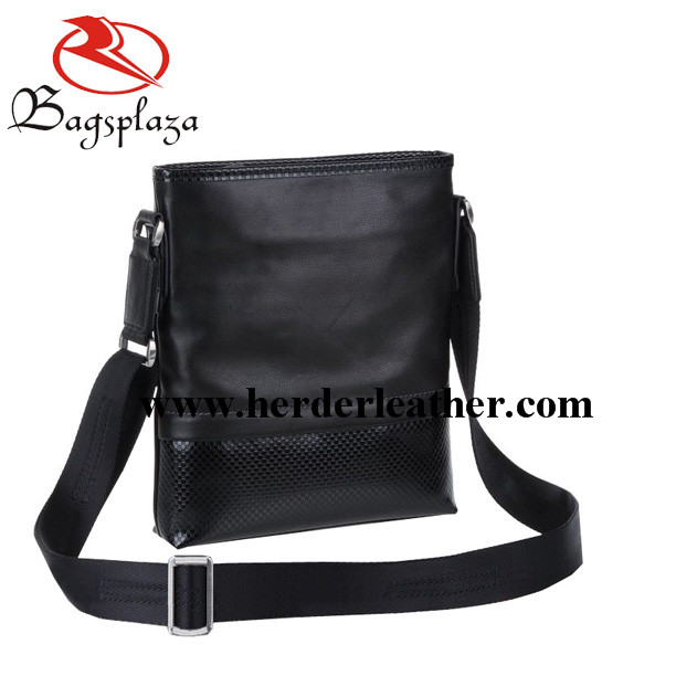 2016 men small shoulder bag black leather simple bag sling bag men