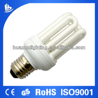U shape energy saving lamp /fluorsecent bulb cfl 4u T3 15W -the leading lighting manufacture Huazun